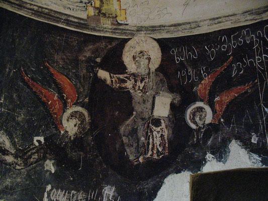 Fresko im Höhlenkloster Dawit Garedshi, Georgien; 20.10.2014