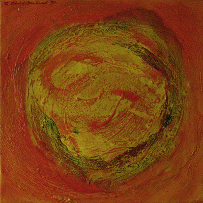 Sonnenfleck II, 50 cm x 50 cm, Acryl auf Nessel, 1990