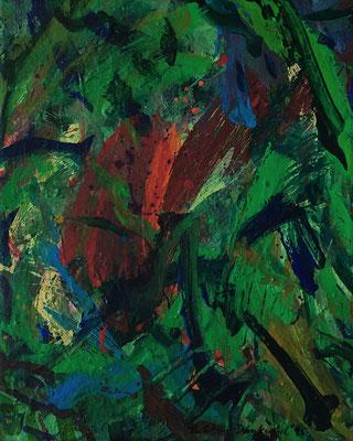 Green I, 40 cm x 50 cm,  Acryl auf Nessel,  1995