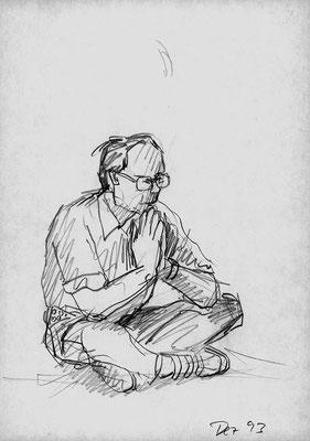 0.T., 21 cm x 29,7 cm, Graphit auf Papier, Dezember 1993