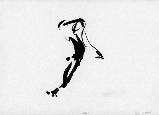 Mimobile, 21 cm x 29,7 cm, Tusche auf Papier, Dez. 1984