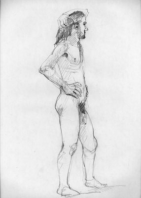 Carlos, 45 cm x 32 cm, Graphit auf Papier, 25.2.2013