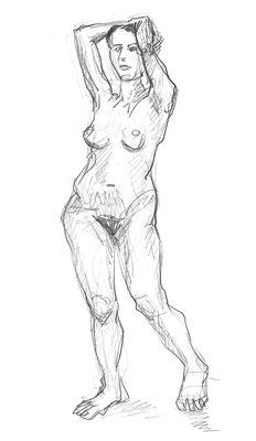 Naima, 30 cm x 42 cm, Graphit auf Papier, 28.11.2015