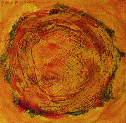 Sonnenfleck VI, 50 cm x 50 cm, Acryl auf Nessel, 1990