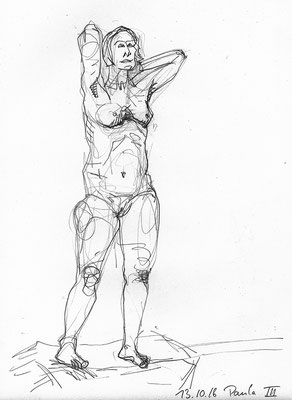 Paula, 30 cm x 42 cm, Graphit auf Papier, 13.10.2016