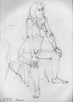 Anna, 32 cm x 45 cm, Graphit auf Papier, 6.11.2012