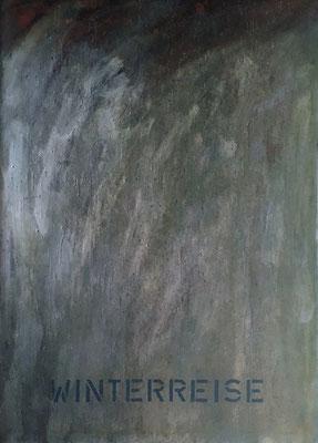 Winterreise, 113 cm x 160 cm, Ölfarbe auf Nessel, 1990