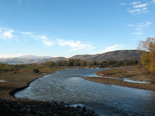 Flußbett des Pozchowiszqali bei Achalziche, Georgien; 23.10.2014
