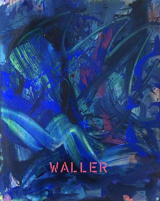Waller, 80 cm x 100 cm, Acryl auf Nessel, 1990