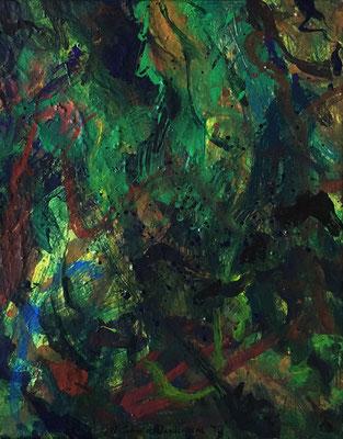 Green II, 40 cm x 50 cm,  Acryl auf Nessel,  1995