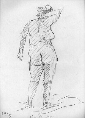 Hanna, 32 cm x 45 cm, Graphit auf Papier, 28.11.2013