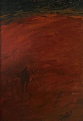 ich rief die Geier, 140 x 90 cm, Ölfarbe auf Nessel, 1987