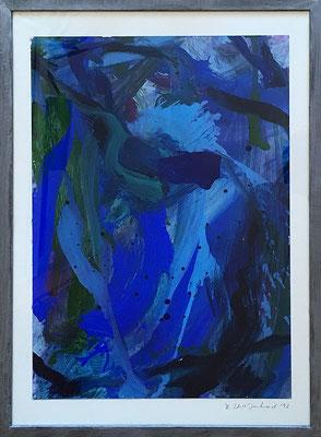 Wasser, 42,5 cm x 61 cm, Acryl auf Papier, 1992