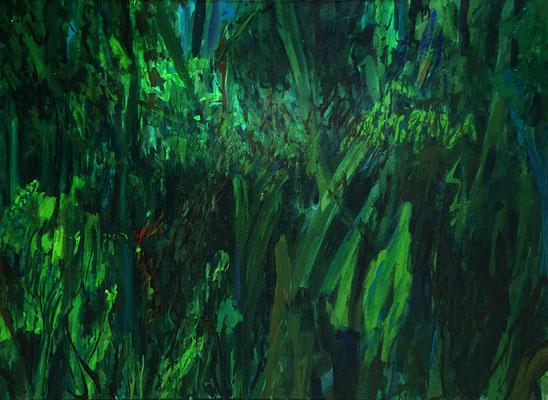 Ich suche dich, 131cm x 90 cm, Caparol auf Nessel, 4-1986