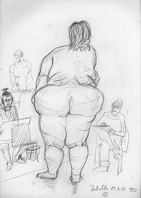 Julischka, 32 cm x 45 cm, Graphit auf Papier, 25.2.2012