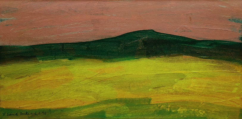Landschaft, 30 cm x 60 cm, Acryl/Papier auf Nessel, 1996