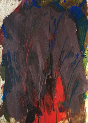 Gestus, 36 cm x 50,5 cm, Acryl auf Karton, 1989