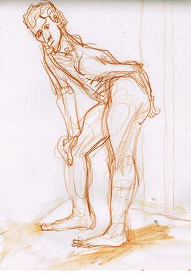 Manuel, 21 cm x 30 cm, Aquarellstift auf Papier, 27.10.2015