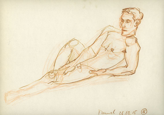Manuel, 32 cm x 22 cm, Aquarellstift auf Papier, 26.10.2015