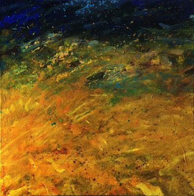 Dieu, 100 cm x 100 cm, Acryl auf Nessel, 1993