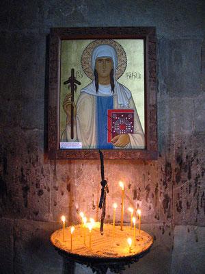 Ikone der heiligen Nino im Dschwari-Kloster, Georgien; 17.10.2014