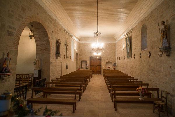 Eglise de Gibiniargues ©Thierry Chateau