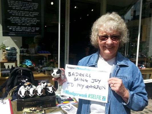 Linda: Badgers bring joy to my garden