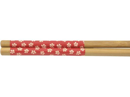 Stäbchen mit rotem Blumen-Motiv