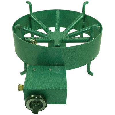 Runder Tischkocher der Firma Van Holten für wahlweise Propangas oder Erdgas mit 8 kW Leistung.