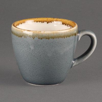 Espresso Tasse Olympia Kiln aus handbemaltem Porzellan GP344. In verschiedenen Größen und Farben erhältlich.