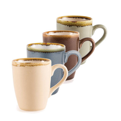 Kaffee Becher Olympia Kiln aus handbemaltem Porzellan GP366. In verschiedenen Größen und Farben erhältlich.