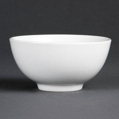 Reisschale Olympia aus weißem Porzellan C253.
