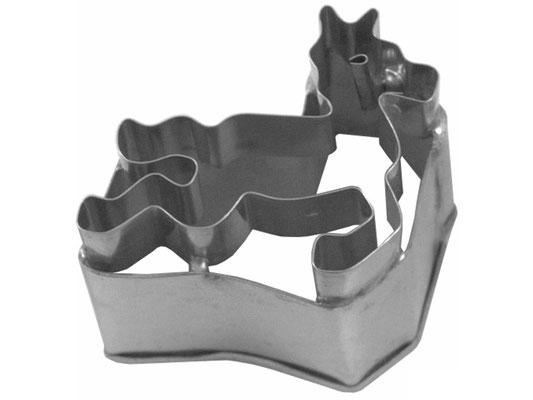 Ausstecher aus rostfreiem Stahl mit Pferd-Motiv zum Backen oder Dekorieren