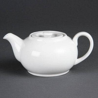 Teekanne von Olympia aus weißem Porzellan CB474