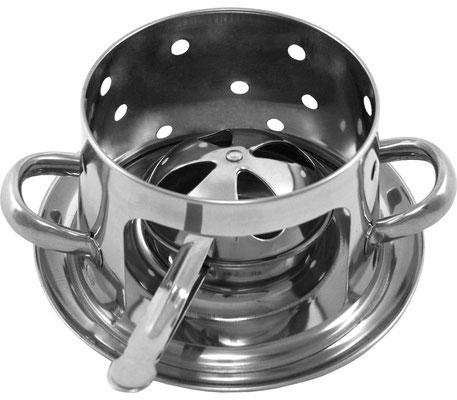 Im praktischen Teelichthalter können Sie 1x Teelicht benutzen, um Ihre Speisen länger warm halten zu können. Durch einfaches Drehen der Kappe können Sie die Flamme löschen, ohne sich die Finder zu verbrennen.