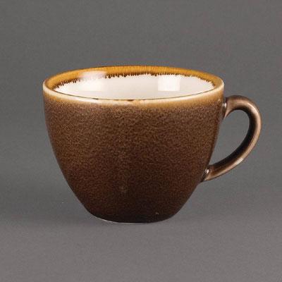 Kaffee Tasse Olympia Kiln aus handbemaltem Porzellan GP364. In verschiedenen Größen und Farben erhältlich.