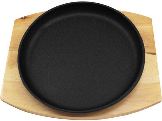Heiße runde Platte aus Gusseisen. Hält Ihre Speisen lange warm. Universell einsetzbar.