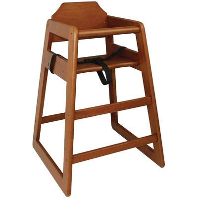 Stabiler Kinderhochstuhl von Bolero (DL901) in traditionellem Holzdesign