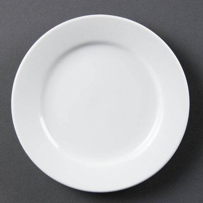 Reisschale Rundteller mit breitem Rand aus weißem Porzellan CB478 / CB479 / CB480 / CB481 / CB482 / CB483