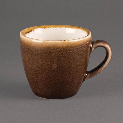 Espresso Tasse Olympia Kiln aus handbemaltem Porzellan GP360. In verschiedenen Größen und Farben erhältlich.