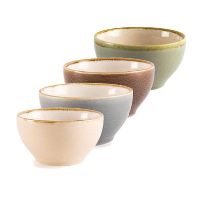 Runde Schale Olympia Kiln aus handbemaltem Porzellan GP466. In verschiedenen Größen und Farben erhältlich.