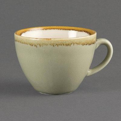 Kaffee Tasse Olympia Kiln aus handbemaltem Porzellan GP478. In verschiedenen Größen und Farben erhältlich.
