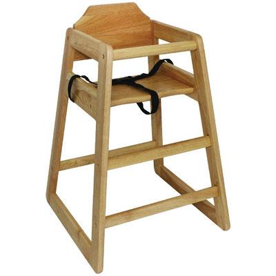 Stabiler Kinderhochstuhl von Bolero (DL900) in traditionellem Holzdesign
