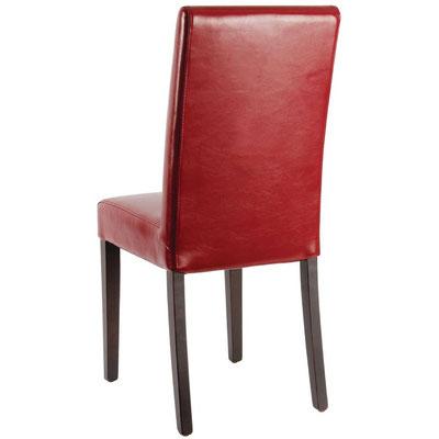 Moderner Stuhl mit hoher Rückenlehne, massivem Birkenholzrahmen und komplett montiert.