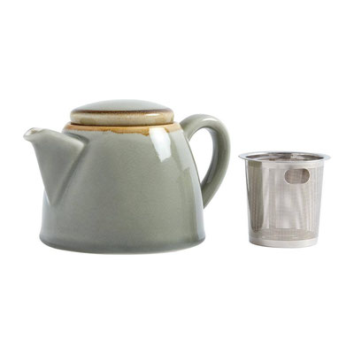 Teekanne Olympia Kiln aus handbemaltem Porzellan SA279 mit Edelstahlsieb