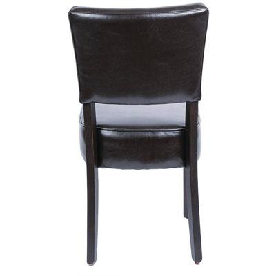 Klassischer Stuhl Bolero mit tiefem Sitz, massivem Birkenholzrahmen und komplett montiert.