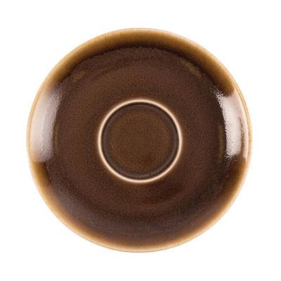 Kaffee Untertasse Olympia Kiln aus handbemaltem Porzellan GP363. In verschiedenen Farben erhältlich.