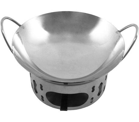 Im Miniwok mit einem Durchmesser von Ø 210 bis 250 mm ist genügend Platz für Ihre Fleisch-, Geflügel-, Fisch- und Gemüsegerichte!