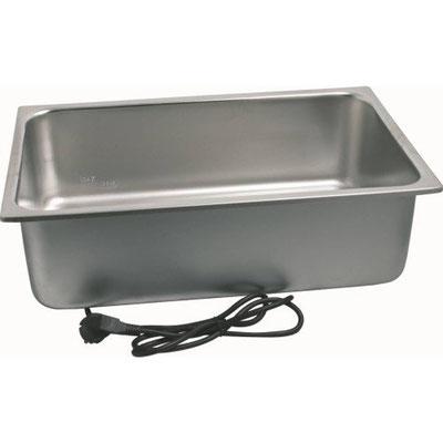 Elektro Wasserbad mit abnehmbarer Heizung für GN 1/1 bis 100 mm.