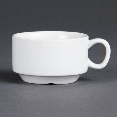 Espresso Tasse Olympia aus weißem Porzellan CB471